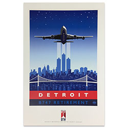 747 Tour Commemorative Poster - Detroit-50% off Thumbnail