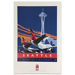 747 Tour Commemorative Poster - Seattle-50% off Thumbnail