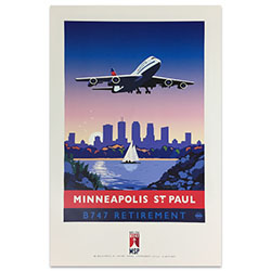 747 Tour Commemorative Poster - Minneapolis-50% off Thumbnail