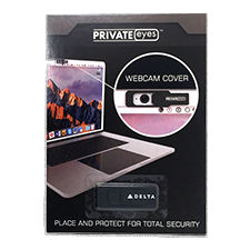Web Cam Privacy Cover - Black - White Delta Logo Thumbnail