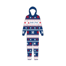 Delta Holiday Adult Onesie Thumbnail