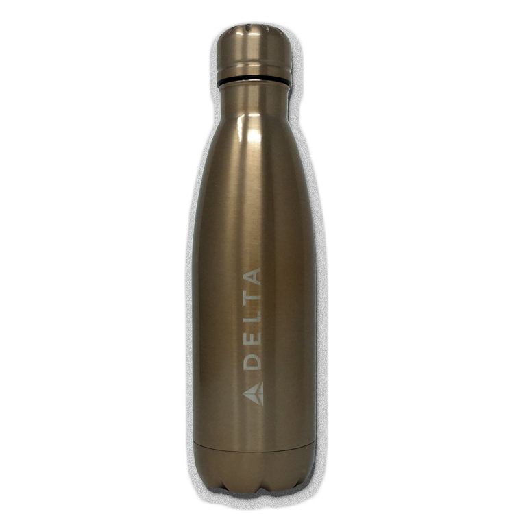 17oz Copper Vacuum Insulated Bottle - Rose Gold - Laser Etch Logo