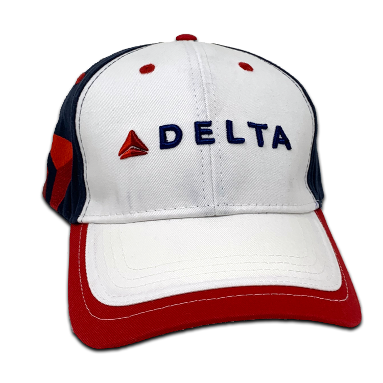 White/Red/Blue Full Color Logo Cap