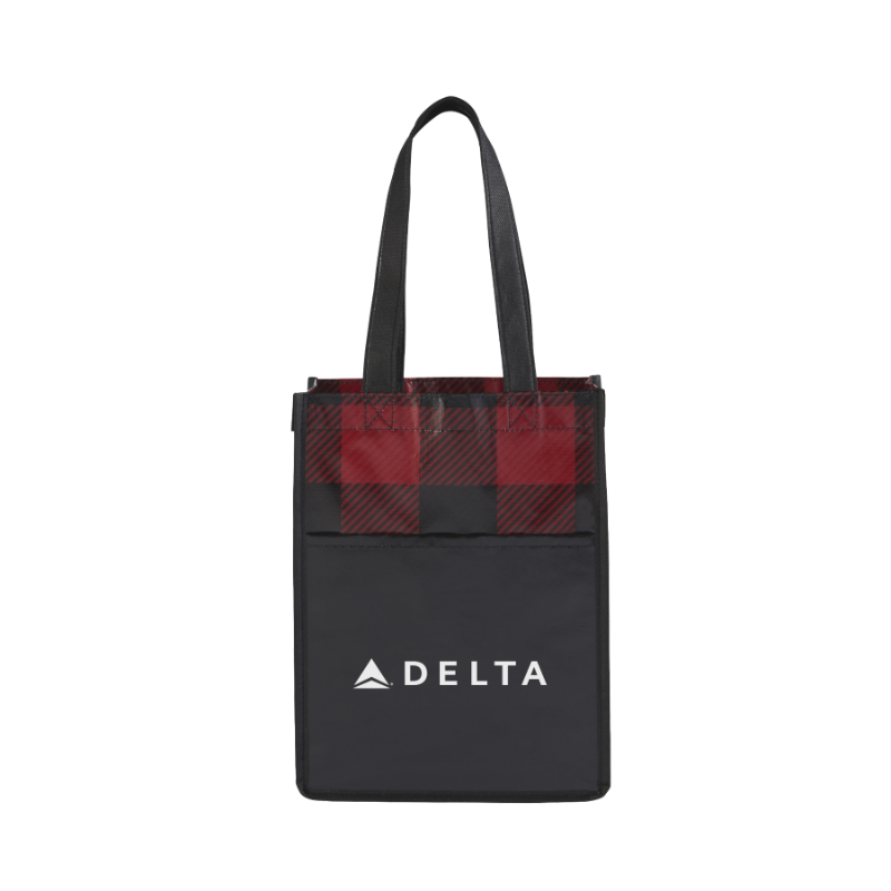 Delta Plaid Mini Tote